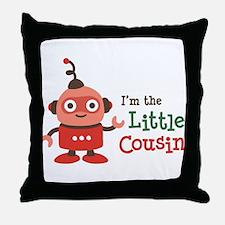 Little Cousin - Retro Robot Throw Pillow