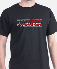 Job Ninja Actuary T-Shirt