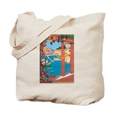 Cote D'Azur Retro Tote Bag