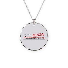 Job Ninja Accountant Necklace Circle Charm
