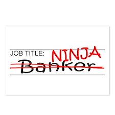 Job Ninja Banker Postcards (Package of 8)