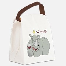 Wine O Canvas Lunch Bag