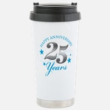 Happy Anniversary 25 years Travel Mug