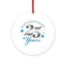 Happy Anniversary 25 years Ornament (Round)