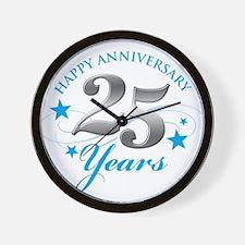 Happy Anniversary 25 years Wall Clock