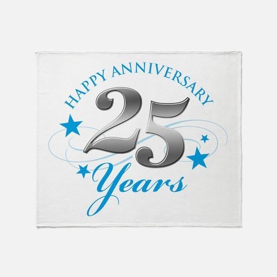 Happy Anniversary 25 years Throw Blanket