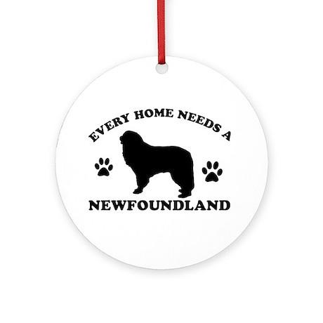 Every home needs a Newfoundland Ornament (Round)