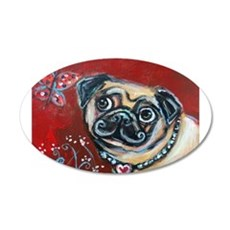 Pug eyes butterfly Wall Decal