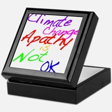 Climate Change Apathy is Not OK Keepsake Box