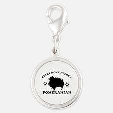 Every home needs a Pomeranian Silver Round Charm