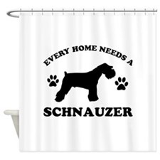 Every home needs a Schnauzer Shower Curtain