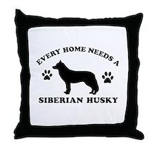 Every home needs a Siberian Husky Throw Pillow