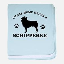 Every home needs a Schipperke baby blanket