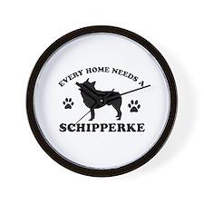 Every home needs a Schipperke Wall Clock