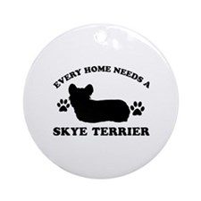 Every home needs a Skye Terrier Ornament (Round)