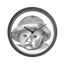 Illustration of Cindy Wall Clock