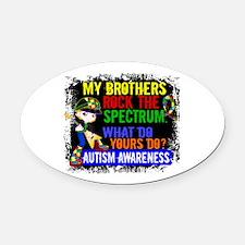 Rocks Spectrum Autism Oval Car Magnet