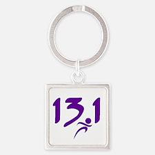 Purple 13.1 half-marathon Keychains