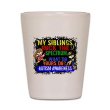 Rock Spectrum Autism Shot Glass