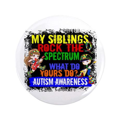 """Rock Spectrum Autism 3.5"""" Button"""