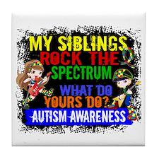 Rock Spectrum Autism Tile Coaster