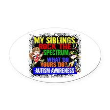 Rock Spectrum Autism Oval Car Magnet