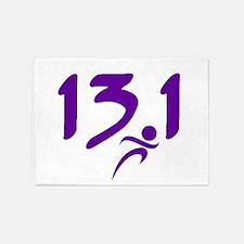 Purple 13.1 half-marathon 5'x7'Area Rug
