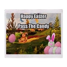 Easter Candy Throw Blanket