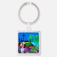 Christians Easter Candy Square Keychain