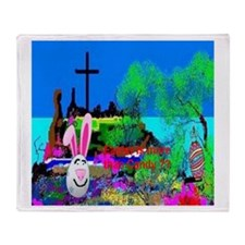 Christians Easter Candy Throw Blanket