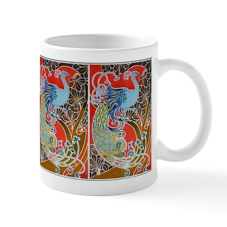 Nouveau Peacock Mug