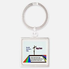 Christian Easter Sunday Square Keychain