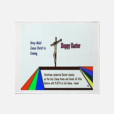 Christian Easter Sunday Throw Blanket