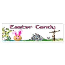 Easter Bunny Candy Bumper Sticker