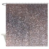 Grey sparkling Shower Curtains