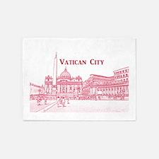Vatican City 5'x7'Area Rug