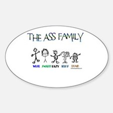 THE ASS FAMILY Rectangle Decal