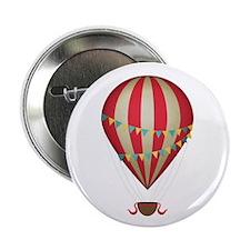 """Hot air balloon red 2.25"""" Button"""