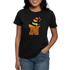 Halloween Letter N Witch Monogram Tee
