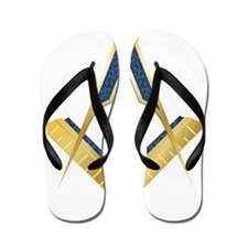 SC-goldplain Flip Flops