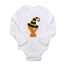 Halloween Letter Y Witch Monogram Long Sleeve Infa