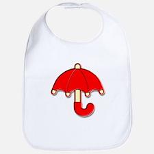 Red Umbrella Badge Bib