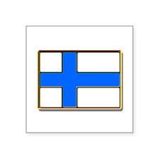 Flag of Finland Badge Sticker
