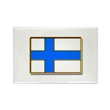 Flag of Finland Badge Rectangle Magnet
