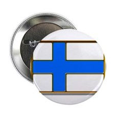 """Flag of Finland Badge 2.25"""" Button"""
