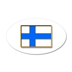 Flag of Finland Badge Wall Decal