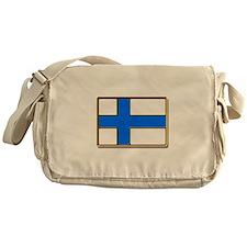 Flag of Finland Badge Messenger Bag