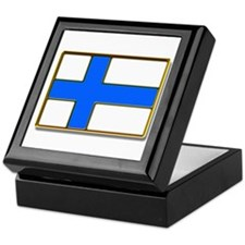 Flag of Finland Badge Keepsake Box