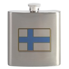 Flag of Finland Badge Flask