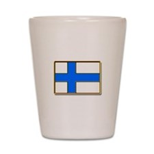 Flag of Finland Badge Shot Glass